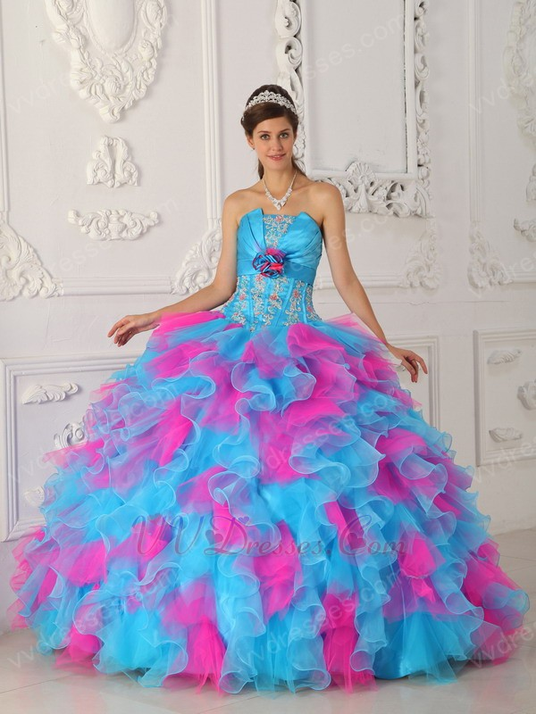 Quinceanera Dresses Hot Pink And Silver Designer