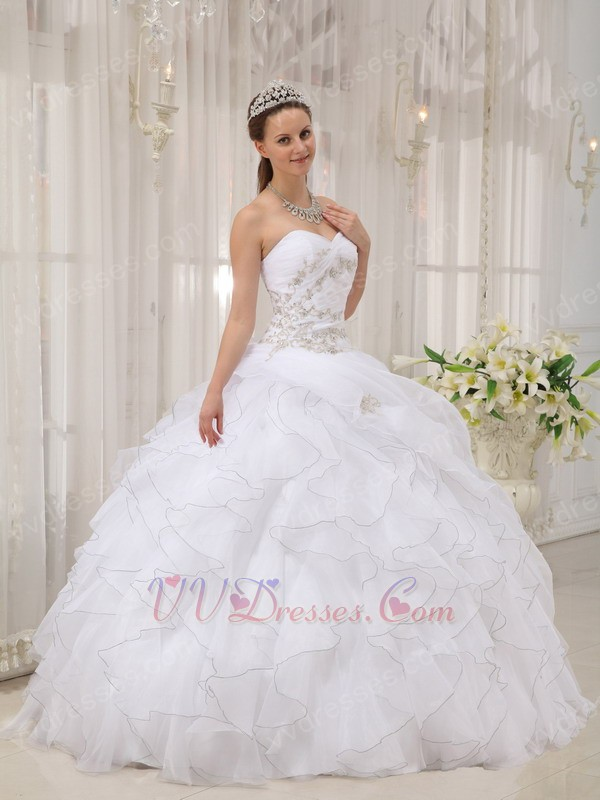 Puffy White Prom Dresses - Holiday Dresses