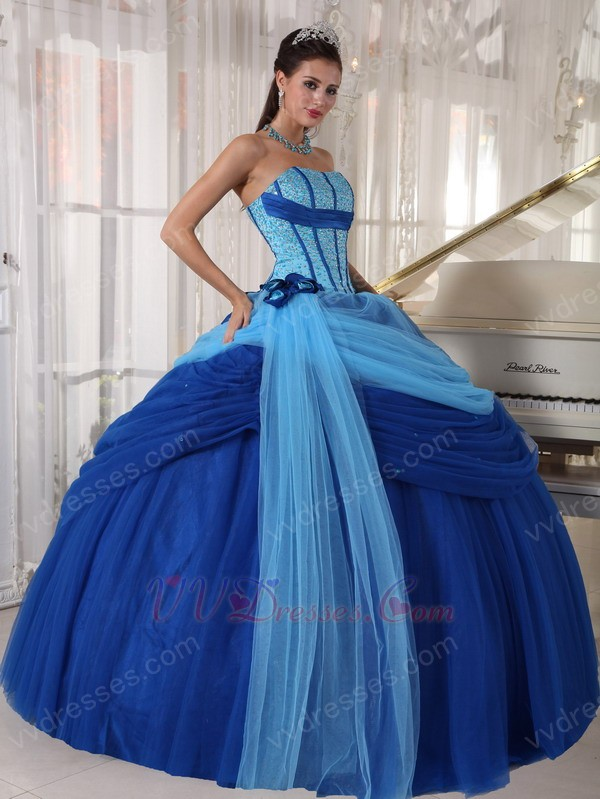 Prom Dresses Puffy Blue - Prom Dresses Cheap