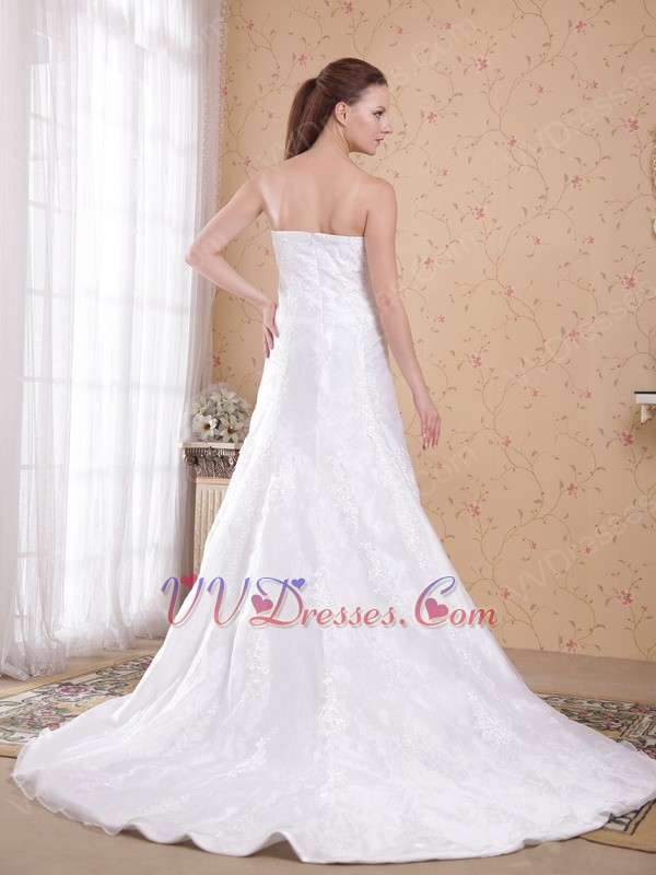 Strapless white wedding outfits bridal dress for cheap price for Designer wedding dresses with prices