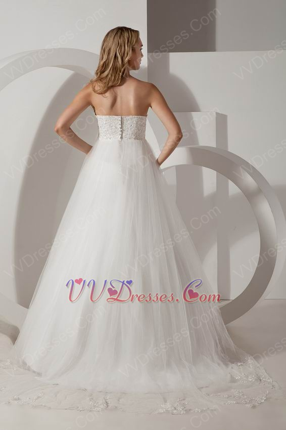 Elegant strapless ivory floor length a line casual wedding for Ivory casual wedding dresses