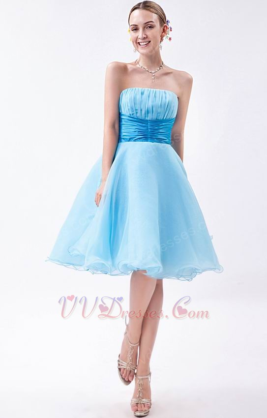Light Blue Lovely Girls Choose Graduation Dress