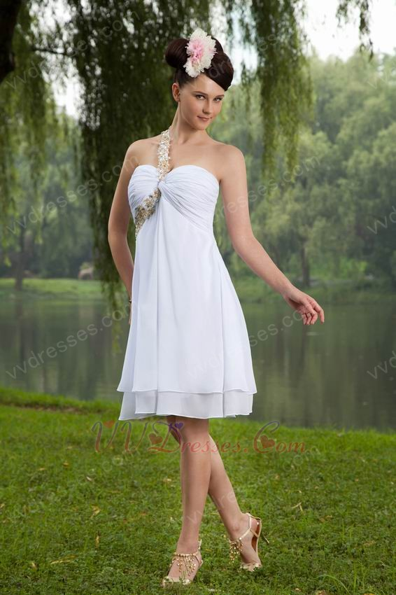 ... Graduation Dresses :: One Shoulder Knee Length Graduation Dress Under