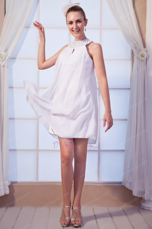 Wholesale Halter Mini Graduation Dress For High School