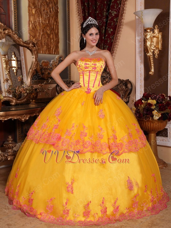 Golden yellow color dress