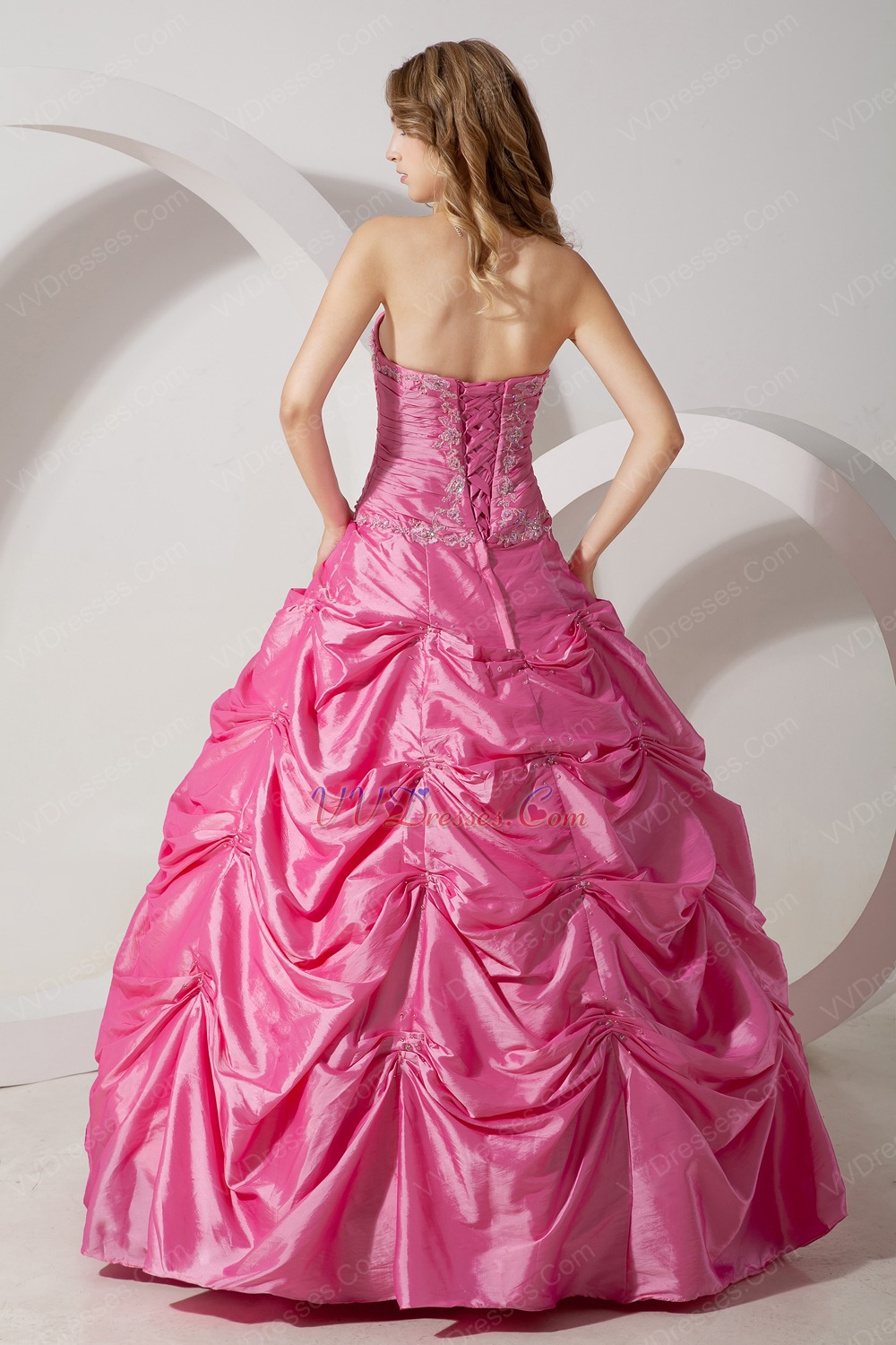 Classic Appliques Hot Pink Quinceanera Dress For Cheap