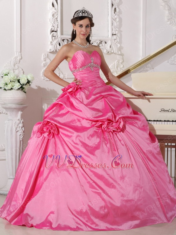 Pink hot puffy quinceanera dresses forecast dress in spring in 2019