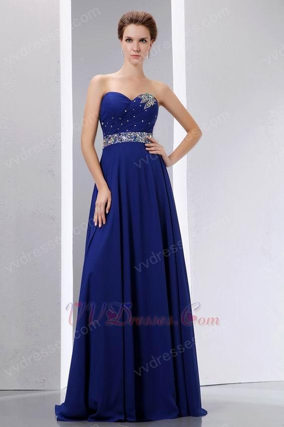 Sweetheart Sapphire Blue Prom Dress Online