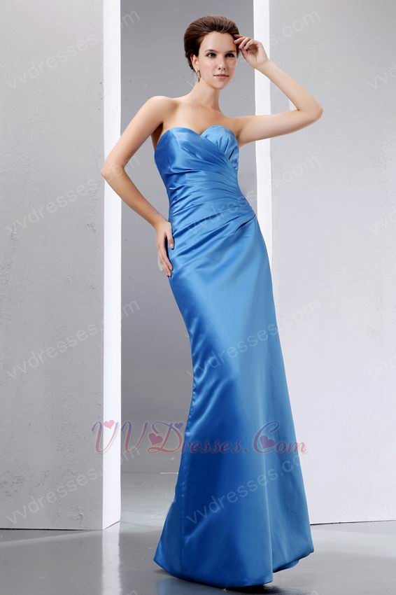 Sweet Heart Mermaid Cornflower Blue Celebrity Prom Dress
