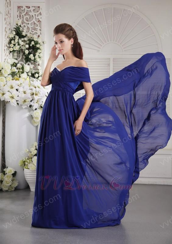 Style One Shoulder Royal Blue 2014 Top Prom Dresses