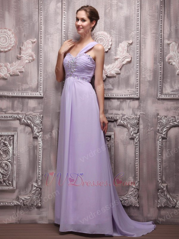 2014 lavender social occasion prom dress with one shoulder