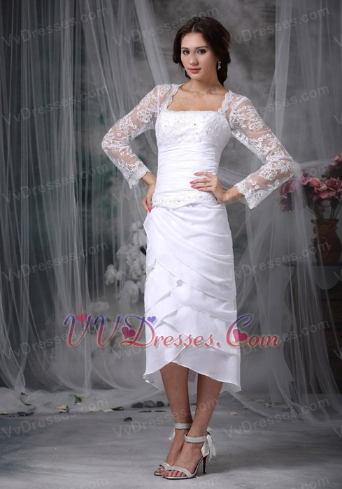 Layers Skirt Mother Of The Bride Dress With Lace Long