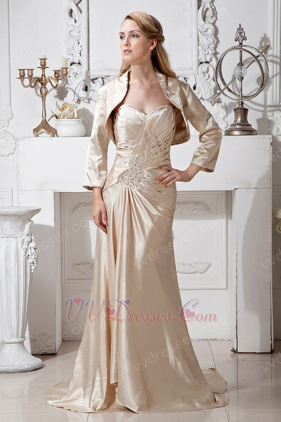 Champagne Mother of the Bride Jacket Dress