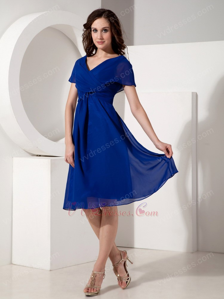 6cbe1be58d2 97+ Royal Blue Cocktail Dresses For Wedding - Sleeveless Chiffon ...