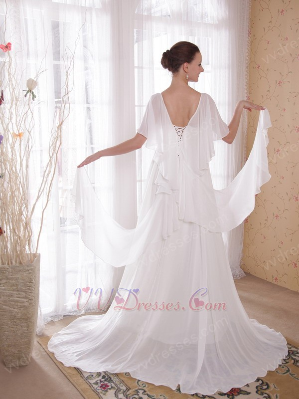 Maternity wedding dress with butterfly wings design for Designer maternity wedding dresses