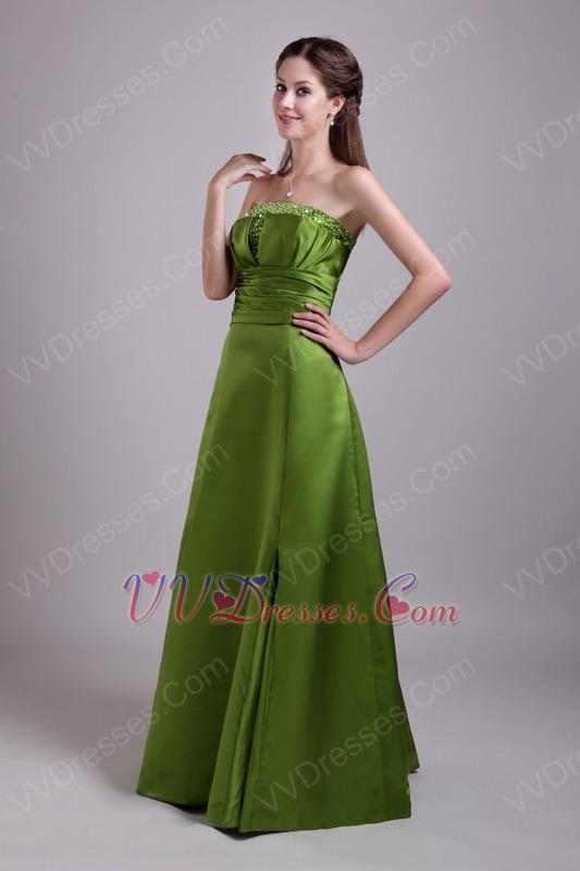 Olive Drab Prom Dress