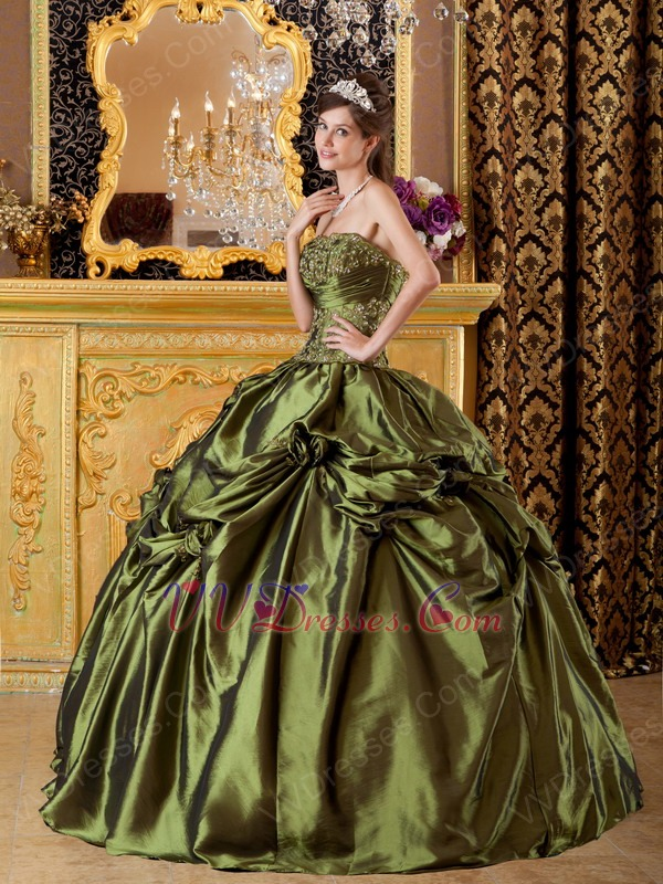 Green and yellow prom dresses