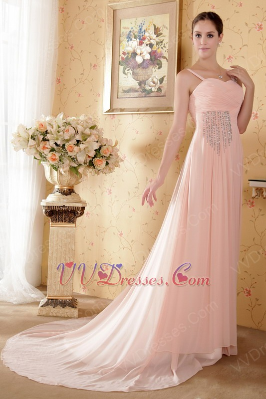 Straps Sweetheart Baby Pink Prom Dresses By 2014 Designers