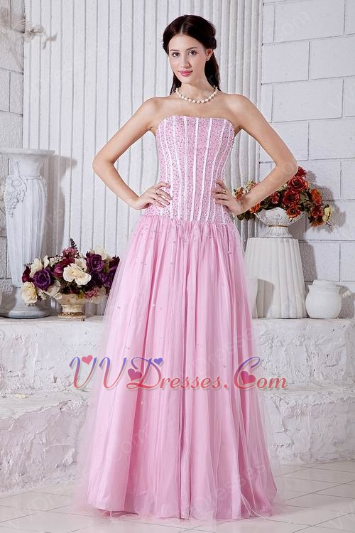 Not Expensive Strapless Beaded Dress To Evening Wear
