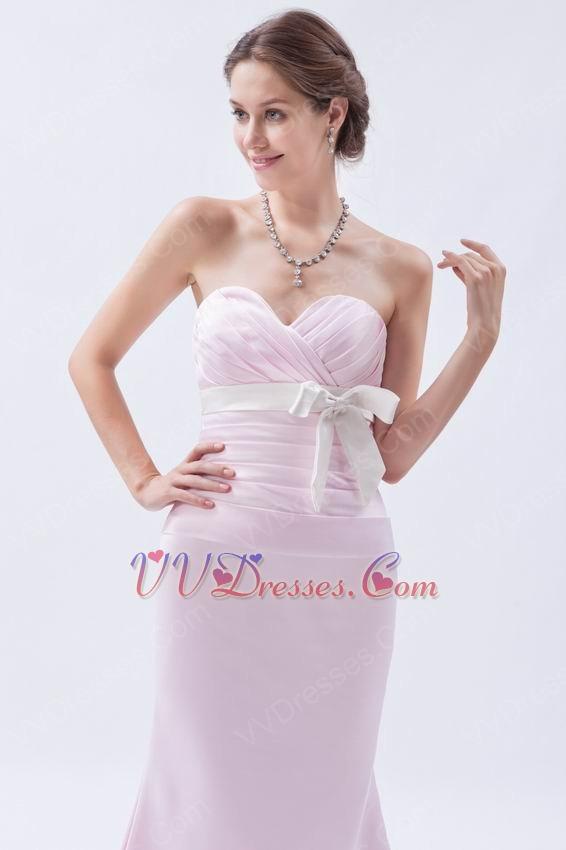Pretty Sweetheart Sheath Silhouette Misty Rose Prom Dress