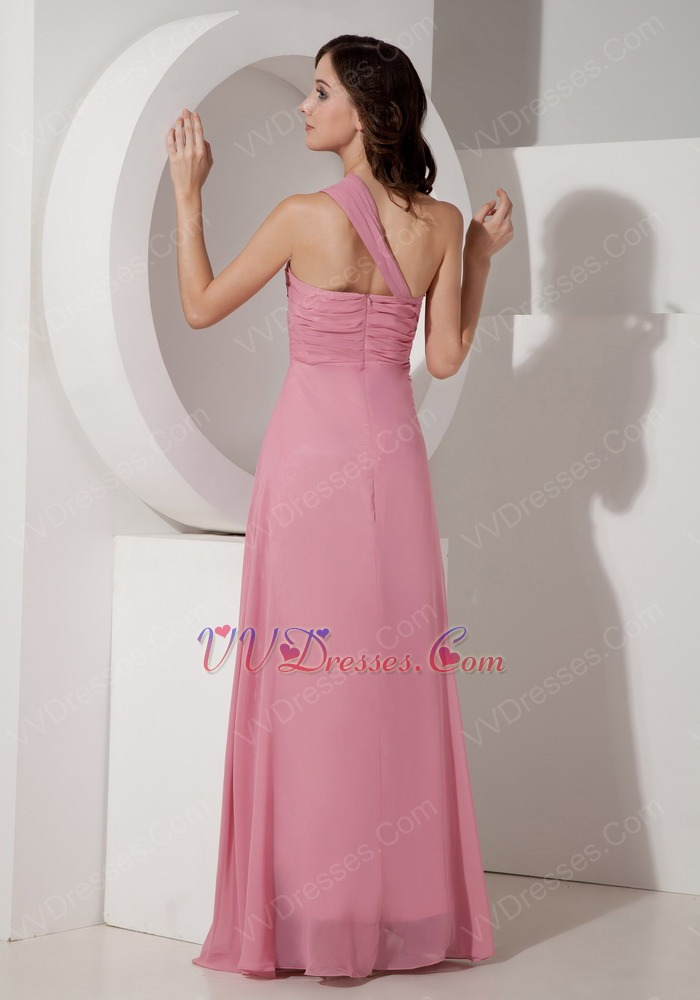 Salmon Red One Shoulder Chiffon 2014 Prom Party Dress Salmon Prom Dresses 2013
