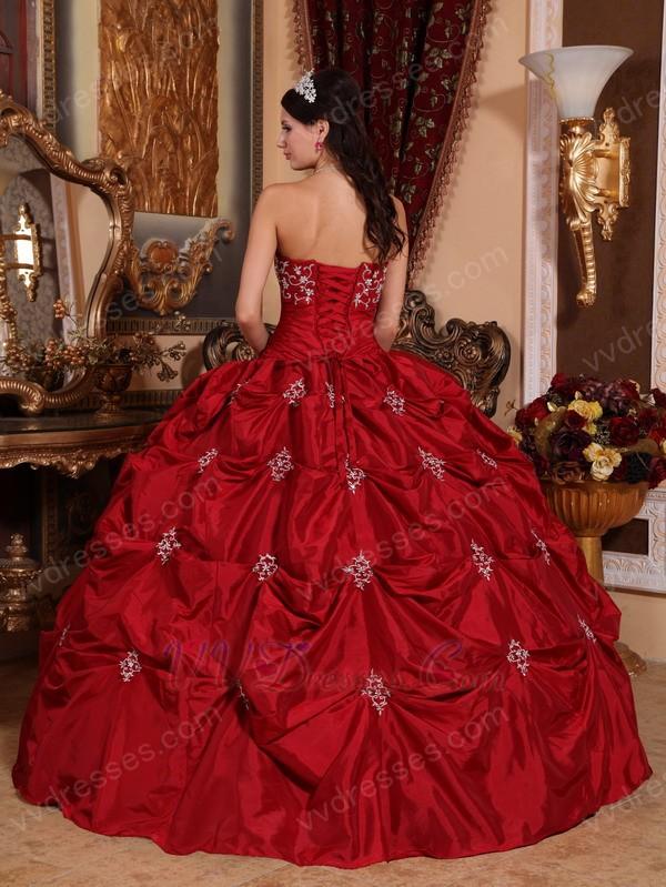 Designer Wine Red Floor Length Ball Dress To Quinceanera
