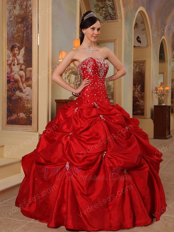 Wine Red Best Quinceanera Dress For Cheap
