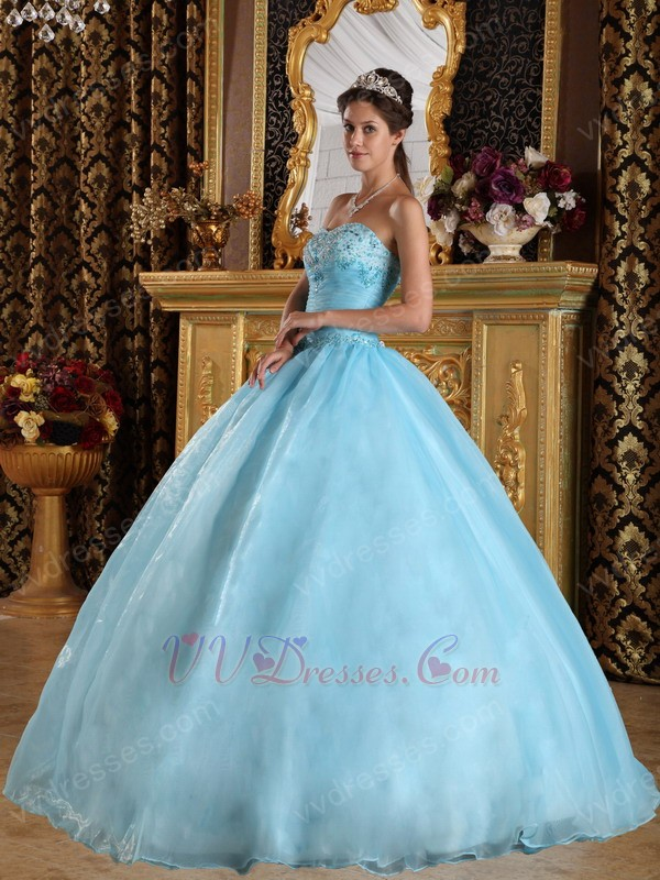 Princess Sky Blue Ancient Imperial Household Puffy Dress
