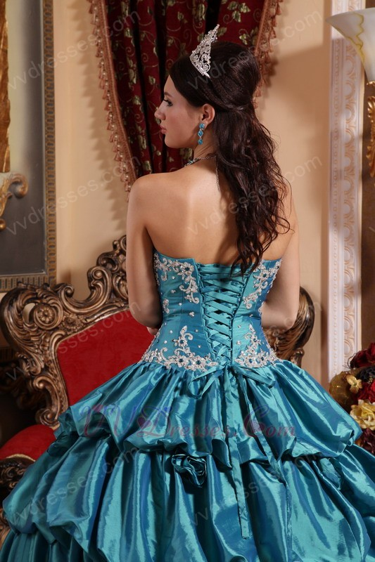 Teal Quinceanera Dresses 2013 Teal Princess Ball Gow...
