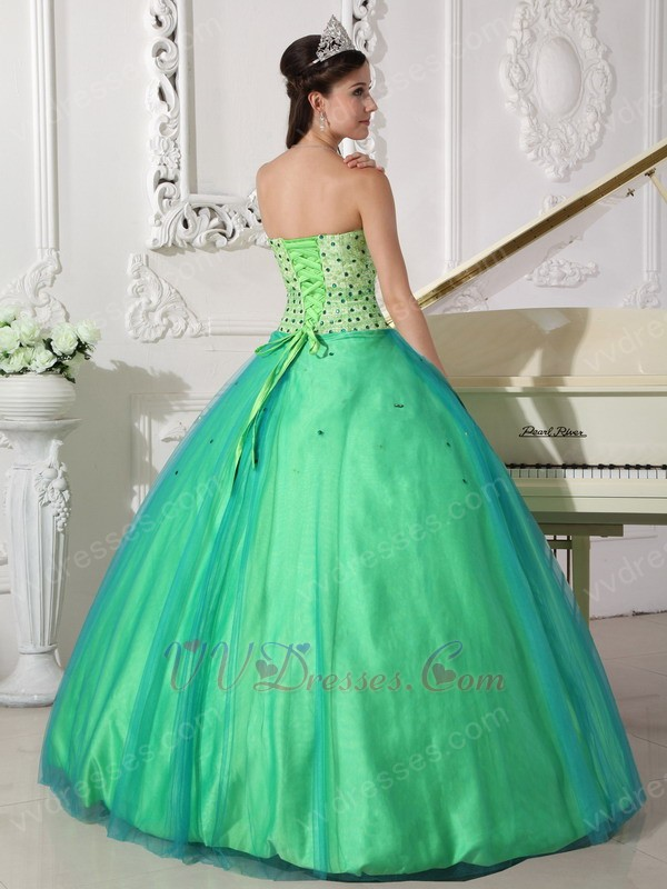 Apple Green Sweetheart Dress 2019 Tulle Spring Quinceanera ...