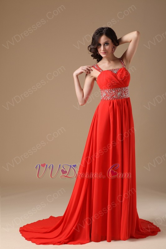 Red color prom dresses