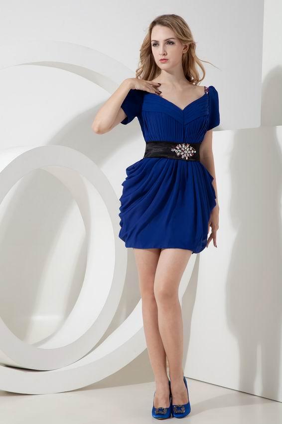 Cap Sleeve Off Shoulder Dress