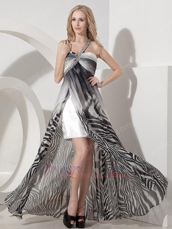 Zebra Printed Prom Dresses 92