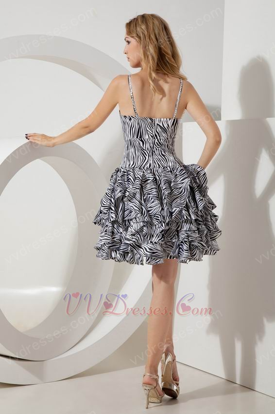 Zebra Short Prom Dresses 75