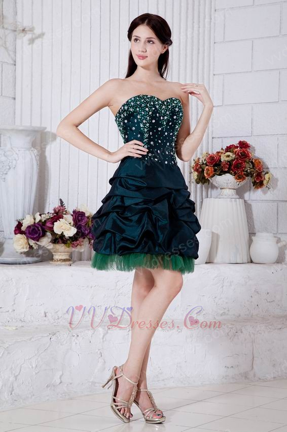 Dark Green Mini Skirt Sweet Sixteen Gowns Discount