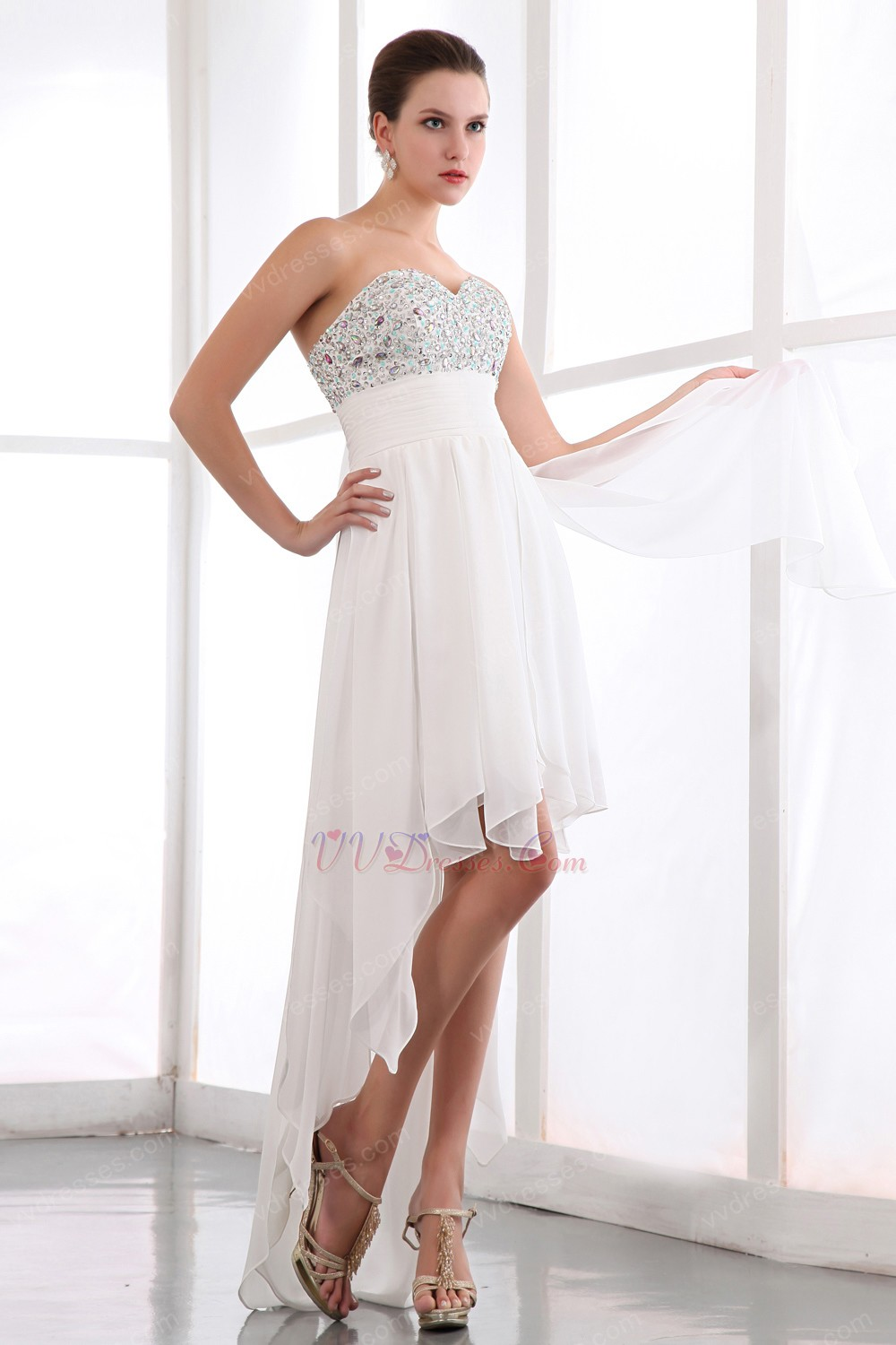 simple white sweet 16 dress