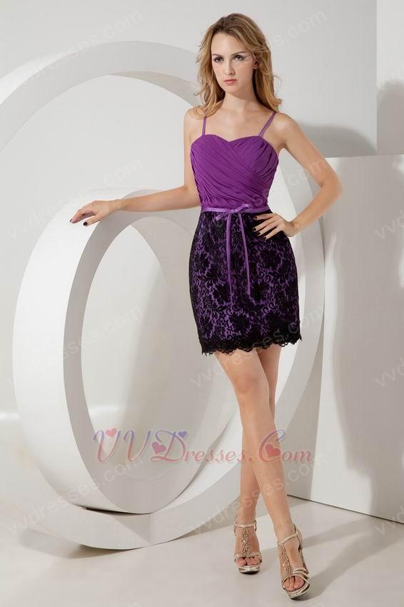 Chiffon Designer Sweet 16 Dress With Black Lace Skirt
