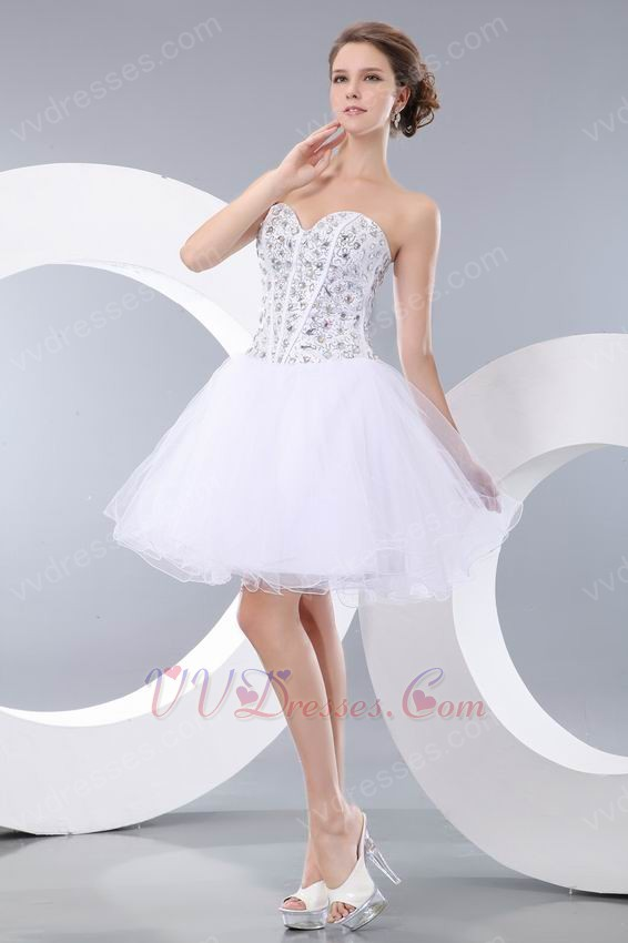 Home sweet 16 dresses luxury sweetheart crystals white dresses