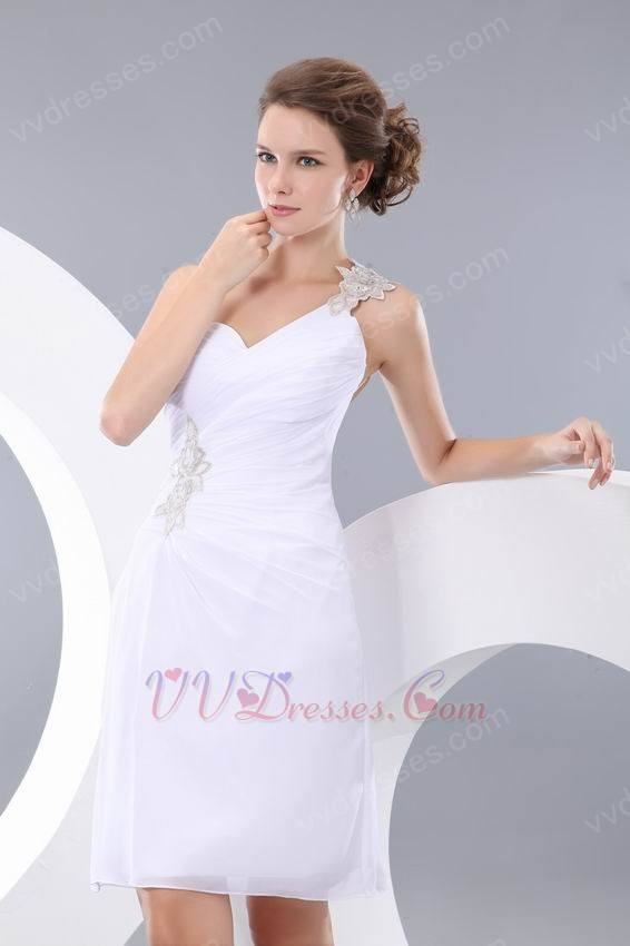 affordable one shoulder backless white sweet sixteen dress