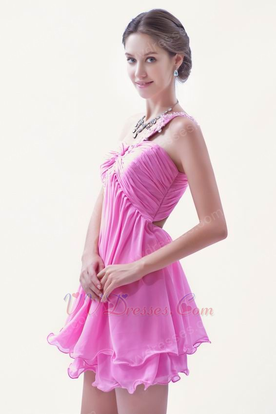 cute one shoulder pink mini skirt sweet 16 dresses for sale