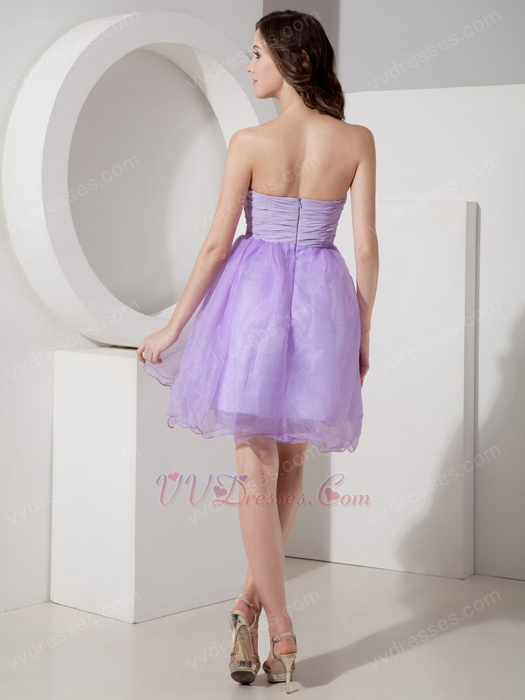 lilac girl sweet sixteen dress with bowknot design