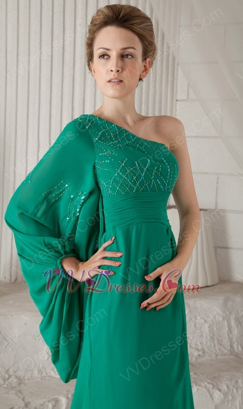 Turquoise Single Long Sleeve Mother Of The Bride Dress