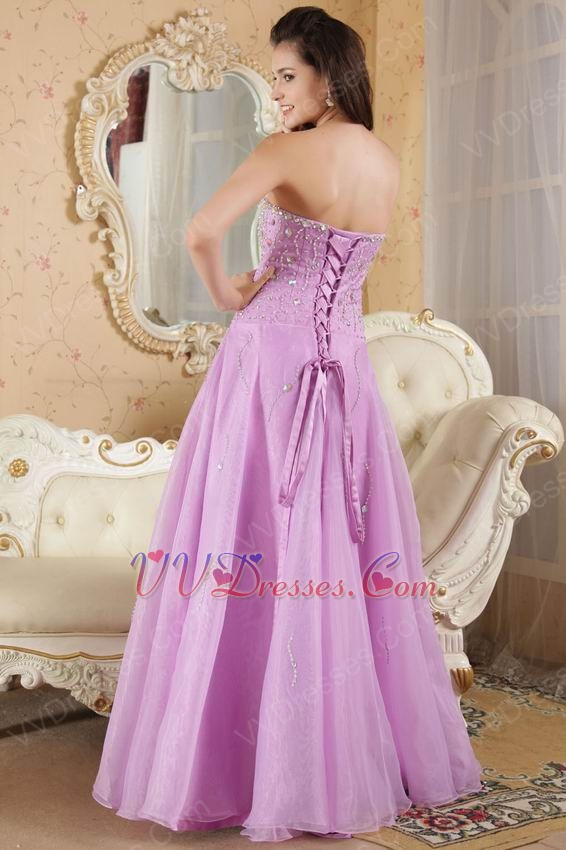 2013 Elegant Lilac Sweetheart A-line Prom Dress With Beading