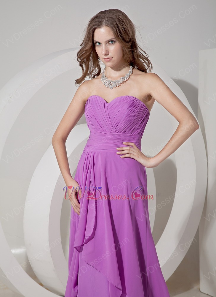 Sweetheart Lilac Chiffon Prom Girl Prom Dress UK