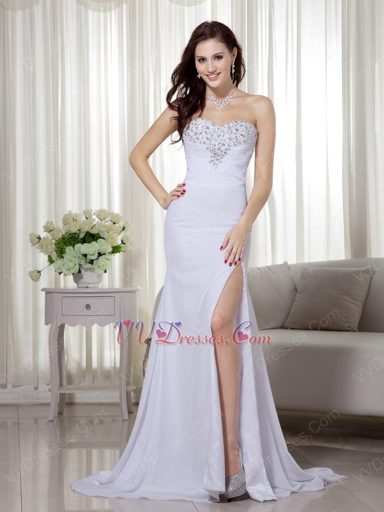 White Colored Prom Dresses