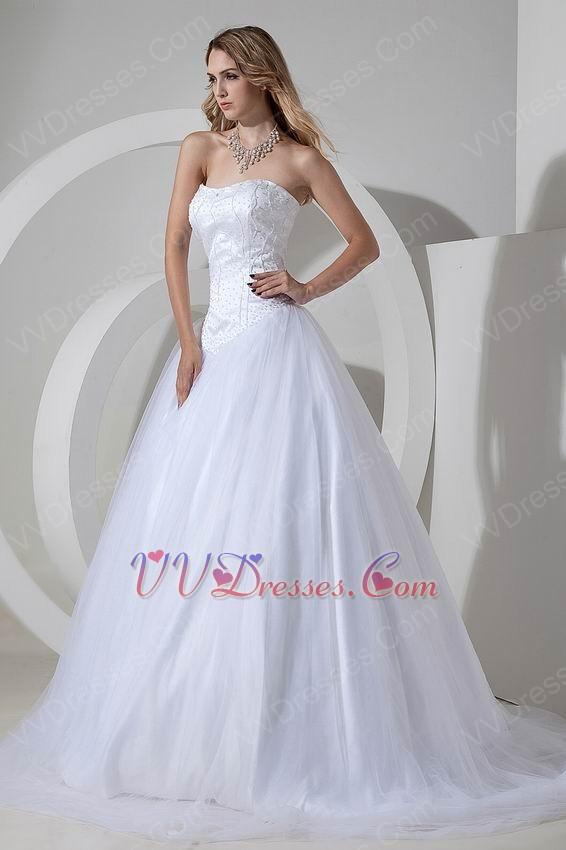 Best Seller Sweetheart White Bridal Chapel Wedding Dress Cheap
