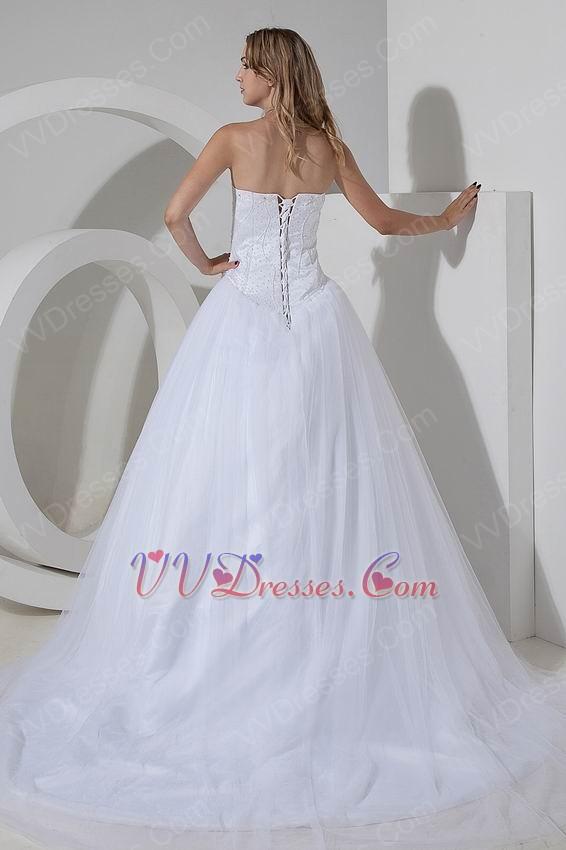 Best seller sweetheart white bridal chapel wedding dress cheap for Cheap western wedding dresses