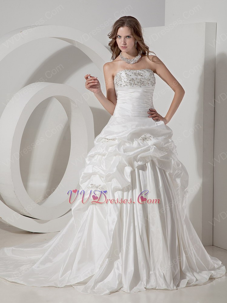 wedding dresses best deals strapless ivory taffeta pick ups wedding