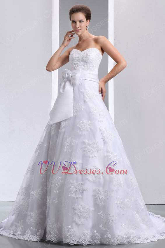 Beautiful Sweetheart White Wedding Dress Make My Own Wedding