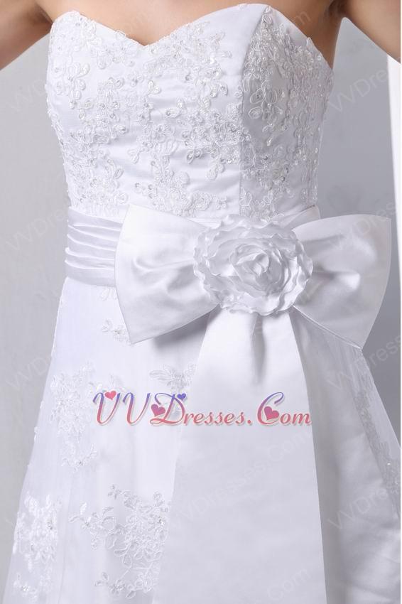 Beautiful sweetheart white wedding dress make my own wedding for Make your own wedding dresses